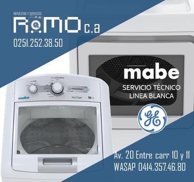 Servicio Tecnico Lavadoras Y Secadoras Mabe Ge A Domicilio