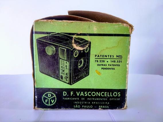 Antiga Máquina Fotográfica Kapza Pinta Verde M F M3 Coleção