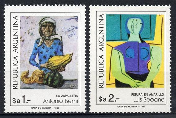 Argentina 1983 Gj 2126/27** Mint Me 1432/33 Berni Seoane A