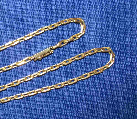 Cordão Em Ouro Maciço 18k - Elos Cadeado Modelo Cartier Não