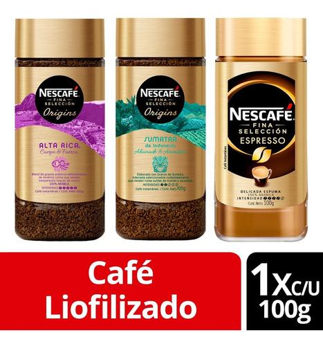 Café Nescafé® Fina Selección Alta Intensidad 100g Pack X3