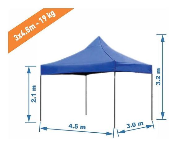 Toldo 3x4.5 M Plegable Impermeable Para Exterior 19kgs