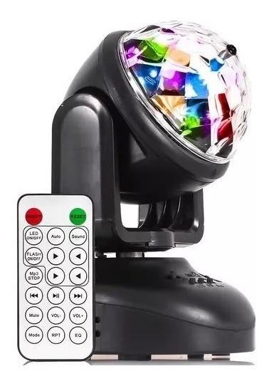 Mini Moving Head Beam Led Mp3 Rgb Iluminação Strobo Efeito