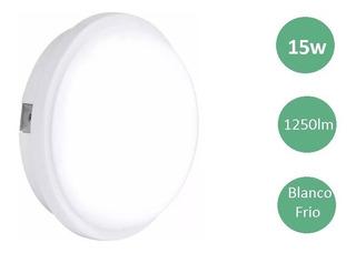 Tortuga Led 15w Aplique Exterior Lampara Estanca Plafon Blanco Frio Calido