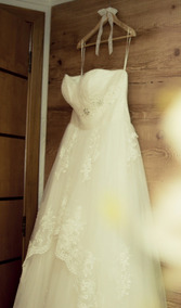 Vestido De Noiva Princesa Importado Véu Longo E Saiote