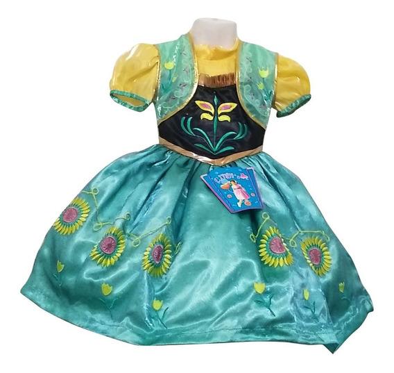 Vestido Anna Girasoles Frozen Bebé 9 Meses, 1 Y 2 Años