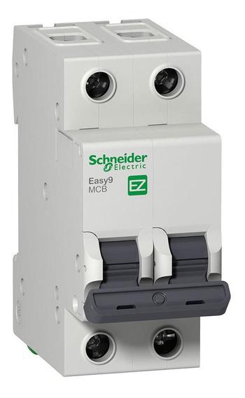 Llave Termica Bipolar 2x16a Schneider Electric Easy9 4.5ka