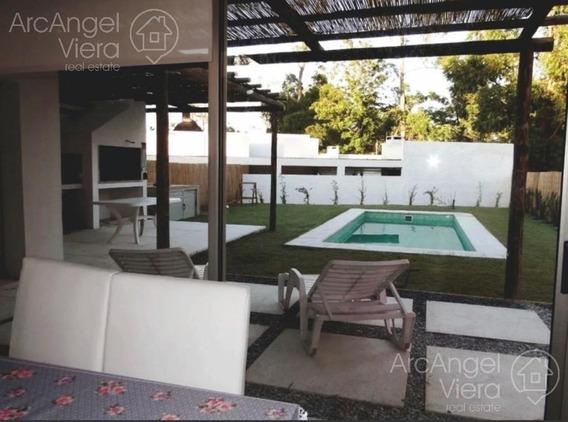 Casa Minimalista En Alquiler Anual En Punta Del Este - Pinares