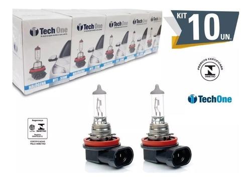 Kit 10 Lampada Halogena H11 3000k 12v 55w Techone