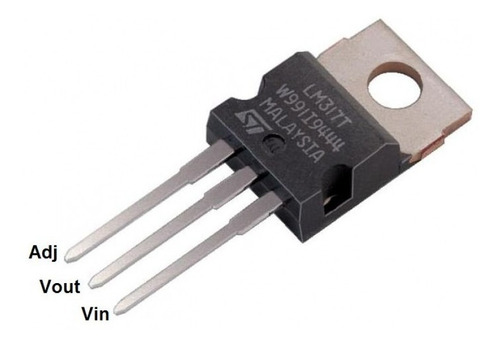 Imagen 1 de 3 de Lm317t 317 Regulador Ajustable 1.2 A 37v 1.5a X10 Unidades