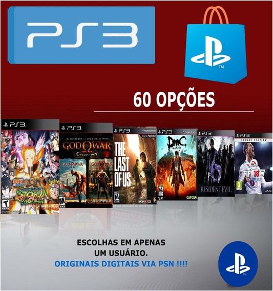 Pacote Combo De 5 Jogos Para Ps3 Originais Da Psn A Escolha