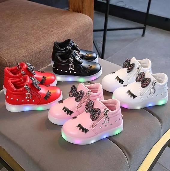 Sapato Menina Led Importada Ref122