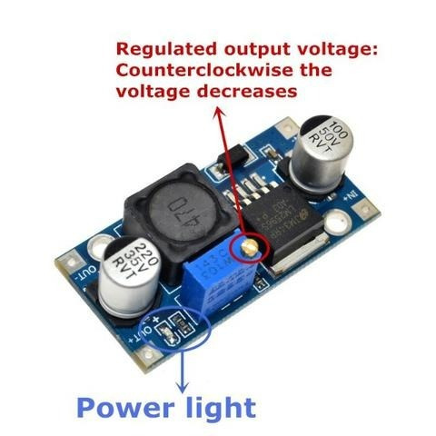 Modulo Regulador Arduino Conversor Tensao Ajustável Lm2596