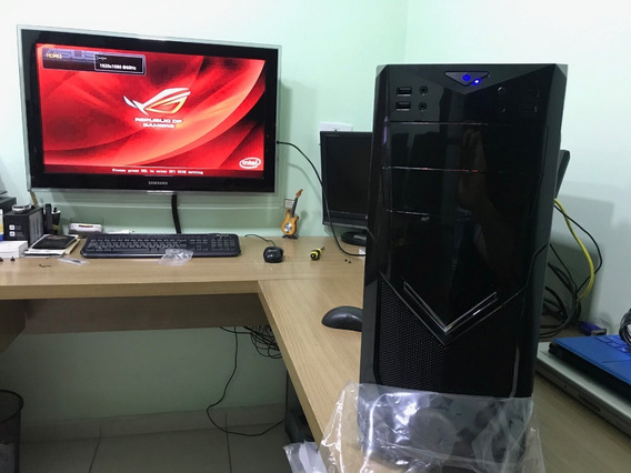 Cpu Gamer Design Core I7 08gb Ssd 240 +hd 1tb Gtx 1050ti 4gb