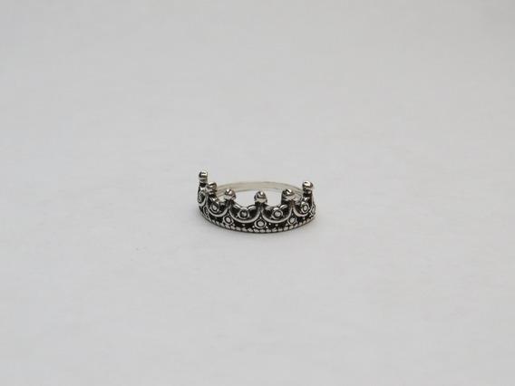 Anel Feminino De Prata 925 Coroa Estilo Pandora