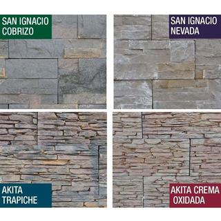 Revestimiento Simil Piedra Natural Interior Exterior Rustico Trapiche Crema Cobriza Frente Fachada Ceramica Textura