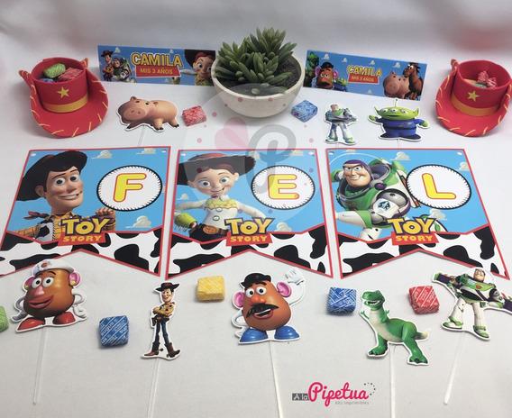 Banderin Toy Story Feliz Cumple Impreso Guirnalda Decoración