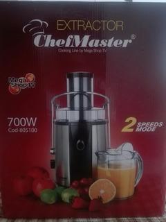 Extractor Chefmaster Mega Shop Tv 700 W