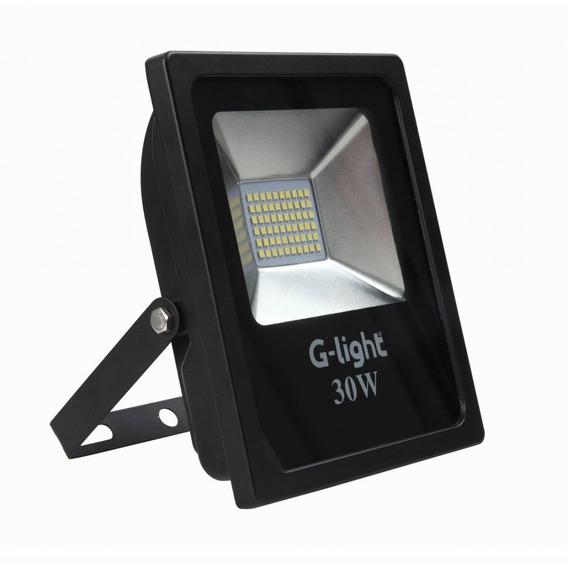 Kit 2 Refletores Slim Led 30w 6500k G-light Frete Grátis