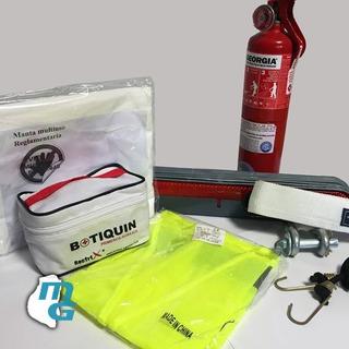 Kit De Seguridad Reglamentario Para Vehículos X 7 Piezas