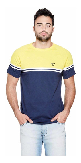 Playera Guess Two Colors Yellow B. Original