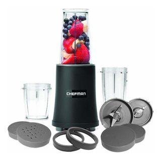 Chefman Rj28-12b 12-piece Ultimate Blender Set, Black