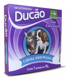 Kit Com 4 Coleira Anti Pulga Carrapatos Cachorro Gato 55cm