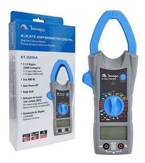 Alicate Amperímetro Digital Ac 1000a Et-3201a Minipa