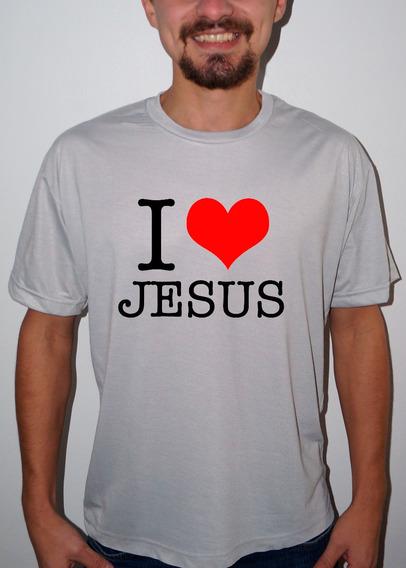 Camiseta Ou Baby Look I Love Jesus