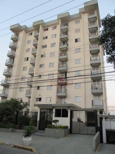 Apartamento Com 2 Dormitórios À Venda, 63 M² Por R$ 349.800,00 - Vila Pereira Cerca - São Paulo/sp - Ap0649