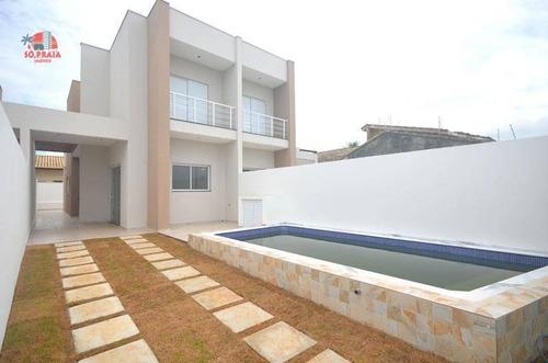 Casa Com 3 Dormitórios À Venda, 115 M² Por R$ 480.000,00 - Tupy - Itanhaém/sp - Ca5319