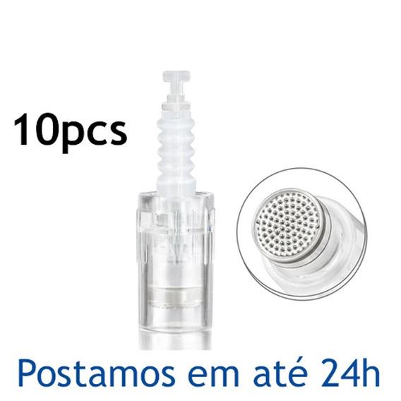 Kit 10 Cartuchos P/ Dermapen Ou Dr. Pen Nano Agulhas Bb Glow