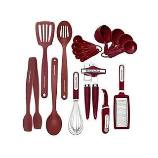 Kitchenaid Set De Utensilios Para Cocina 17 Piezas, Rojo