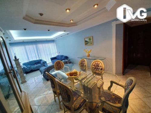 Apartamento Mobiliado Com 3 Dormitórios À Venda, 115 M² Por R$ 500.000 - Macedo - Guarulhos/sp - Ap2418