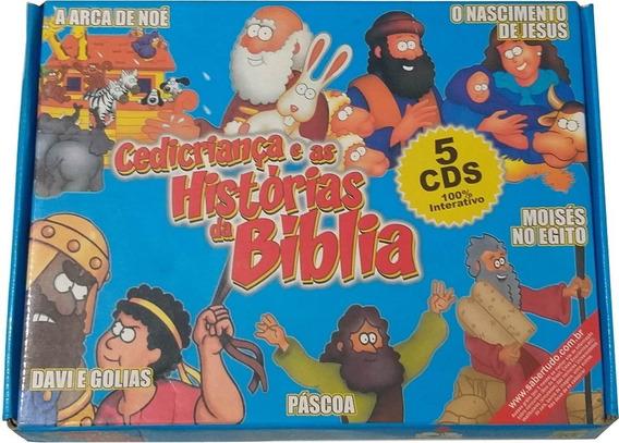 Box Histórias Da Bíblia Com 5 Cds Interativos Super Oferta