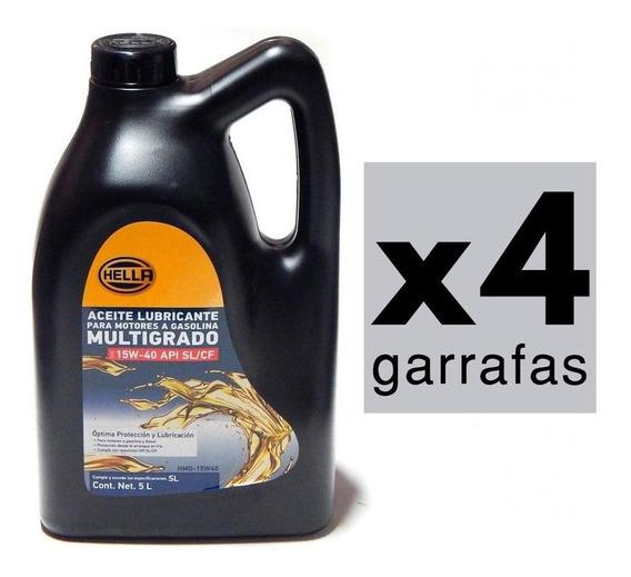 20 Litros Aceite 15w40 Mineral Multigrado Api Sn/cf Hella