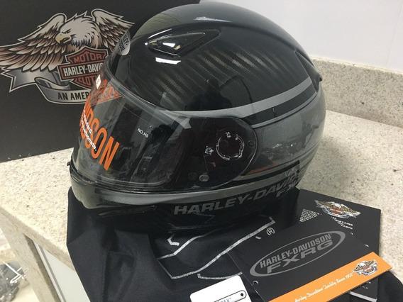 Capacete Harley Davidson Fxrg Carbon & Kevlar Original S 56