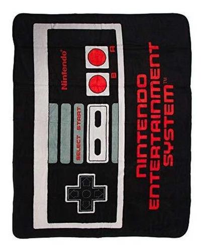 Manta De Lana Control Para Nintendo Bioworld Nes Retro 48 X