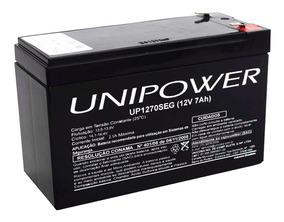 Bateria Selada 12v 7ah Unipower P/ Alarme Up1270seg
