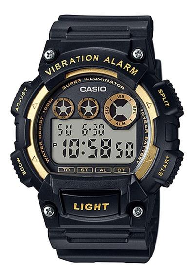 Relogio Casio W-735h Alarm Vibra Crono Timer Grande Nf W735