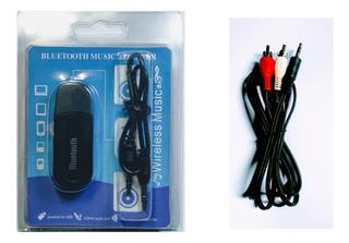 Receptor Bluetooth Áudio Stereo Transmissor P2+cabo P2 X Rca
