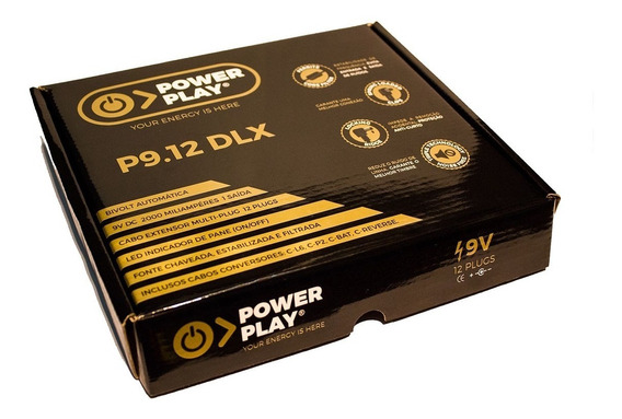 Fonte Power Play P9.12dlx 12 Pedais + Adaptadores , 2000ma