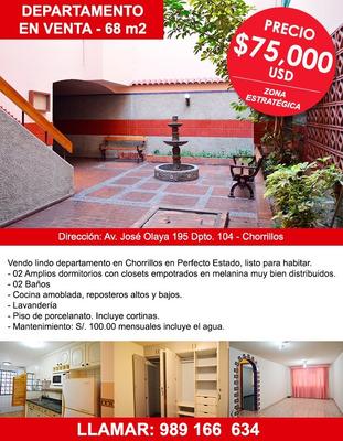 Venta De Departamento En Chorrillos 1° Piso 69 Mt2