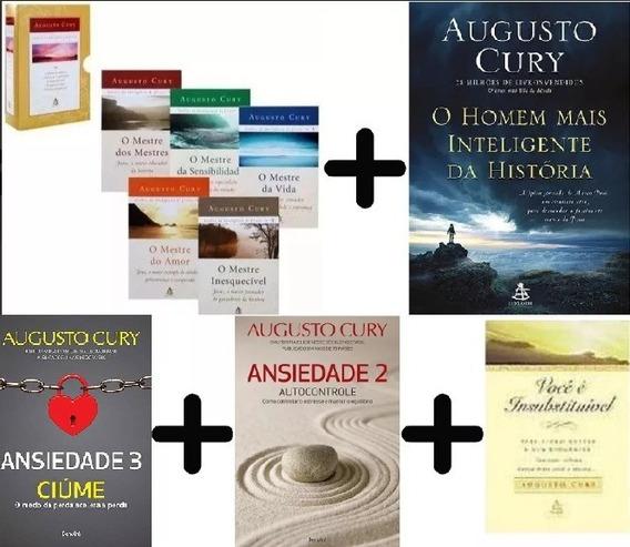 Coleção 9 Livros Augusto Cury: Box Inteligencia + Ansiedade+