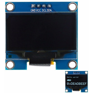 Display Oled 0.96 Blanco 128x64 I2c Ssd1306 Nubbeo