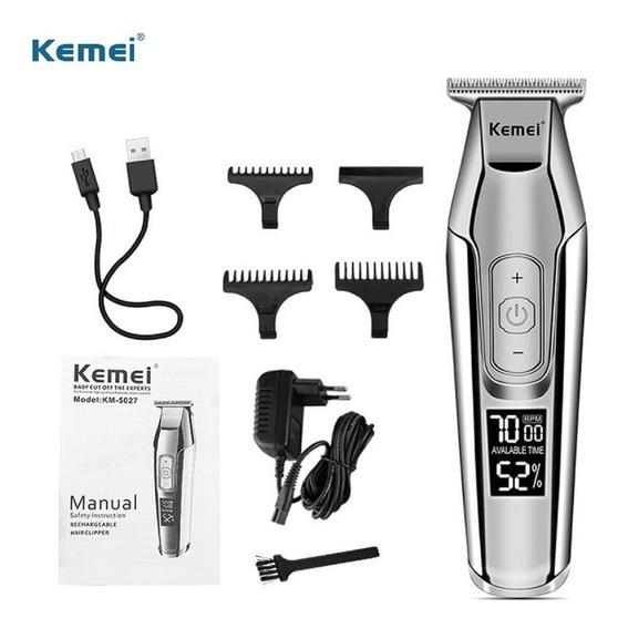 Aparador Cortador De Cabelo Barba Acabamento Kemei 5027 Produto Profissional Em Estoque No Brasil Frete Grátis Aproveite