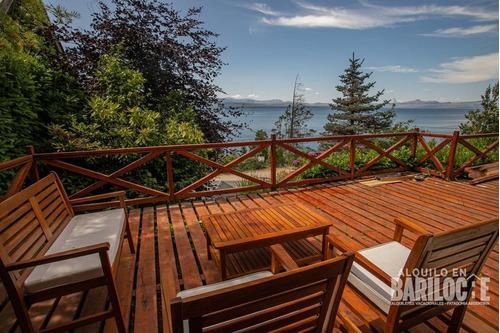 Imagen 1 de 14 de Previaje Hermosa Casa Con Vista Al Lago De 3 Dorm, Bariloche