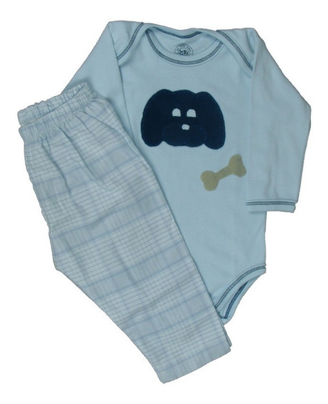 Pijama Body Animais Bebê Inverno Flanela