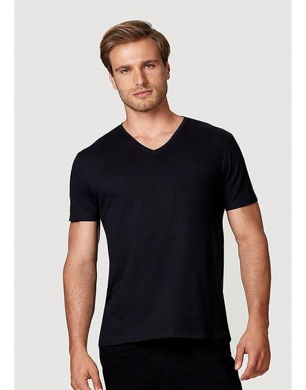 Camiseta Super Slim Em Algodão Com Elastano Hering