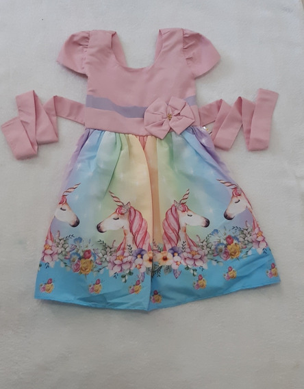 Vestido Festa Infantil Unicórnio